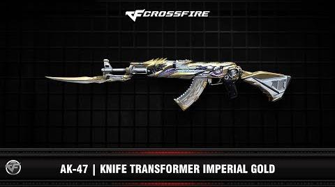CF AK-47 Knife Transformer Imperial Gold