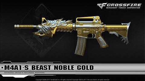 CrossFire China M4A1-S Beast Noble Gold