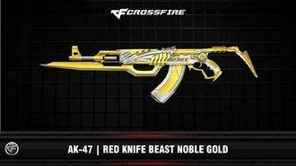 CF AK-47 Red Knife Beast Noble Gold (VIP)