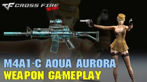 CrossFire - M4A1-Custom Aqua Aurora - Weapon Gameplay