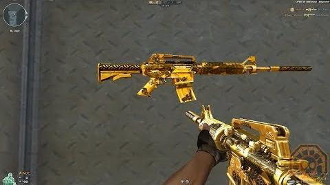 【CF】 Cross Fire West M4A1-S Gold Black Dragon!