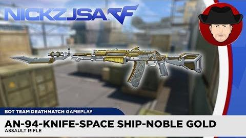 AN-94-Knife-Space Ship-Noble Gold CROSSFIRE China 2.0 EXP