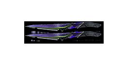 Shadow Knife-Purple Green