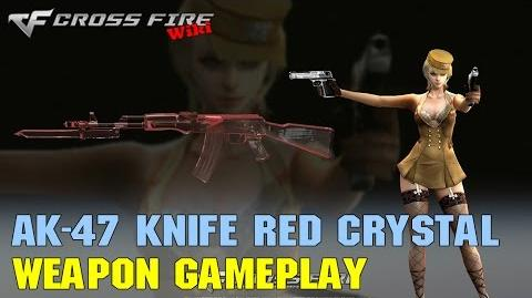 CrossFire - AK-47 Knife Red Crystal - Weapon Gameplay