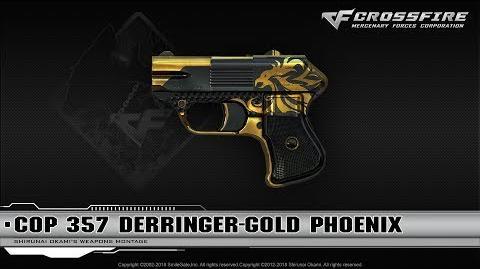 CrossFire China Cop 357 Derringer-Gold Phoenix
