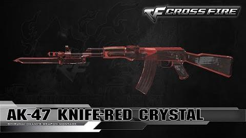 CrossFire Vietnam AK-47 Knife-Red Crystal ☆