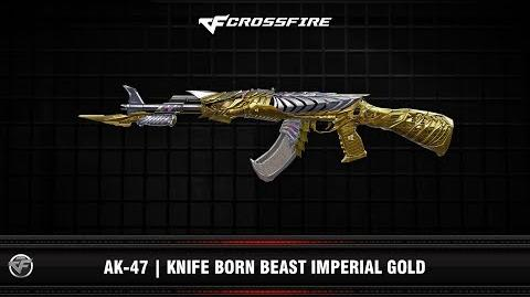 CF AK-47 Knife Born Beast Imperial Gold