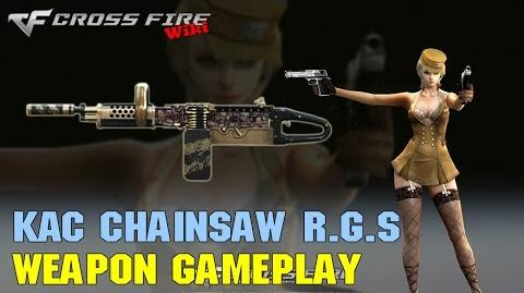 CrossFire - KAC Chainsaw Rusty Gold Skull - Weapon Gameplay