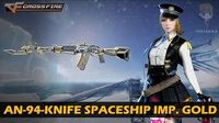 CrossFire Vietnam AN-94-Knife Spaceship Imperial Gold