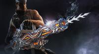 White Wolf using Gatling Gun-Infernal Dragon