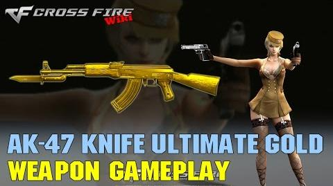 CrossFire - AK-47 Knife Ultimate Gold - Weapon Gameplay