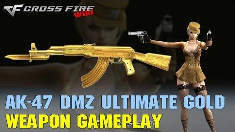 CrossFire - AK-47 Knife DMZ Ultimate Gold - Weapon Gameplay
