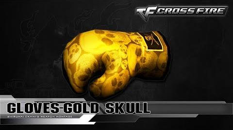 CrossFire China Gloves-Gold Skull ☆