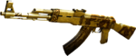 AK47-Gold Black Dragon