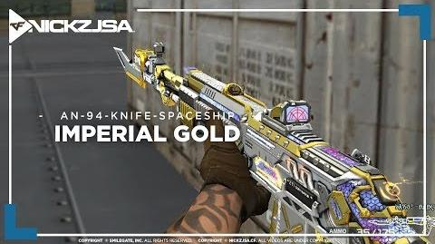 AN-94-Knife-Spaceship-Imperial Gold CROSSFIRE China 2.0