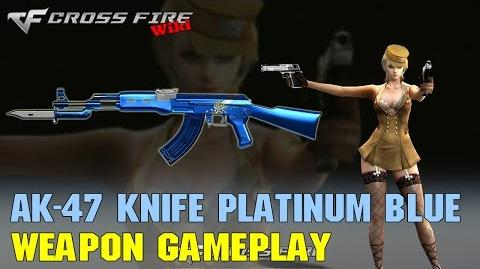 CrossFire - AK-47 Knife Platinum Blue - Weapon Gameplay