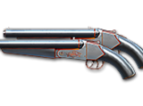 Dual Double Barrel-Noble Silver