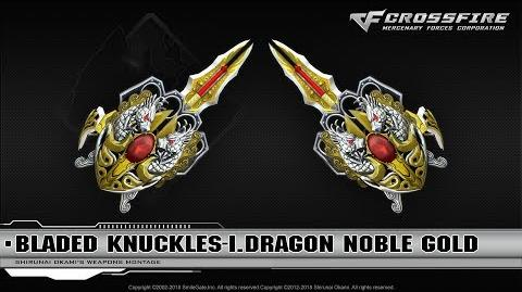 CrossFire China Bladed Knuckles-Infernal Dragon Noble Gold (VIP)