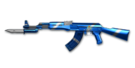 AK47 Knife PlatinumBlue
