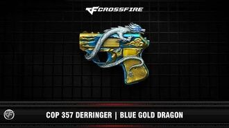 CF COP 357 Derringer Blue Gold Dragon