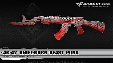 CrossFire China AK-47 Knife-Born Beast Punk (VIP)