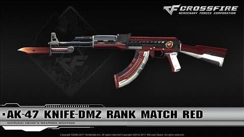 CrossFire China - AK-47 Knife-DMZ Red Match Red (Season 6)