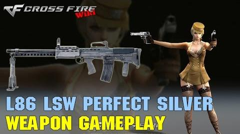 CrossFire - L86 LSW Perfect Silver - Weapon Gameplay
