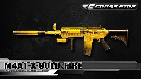 CrossFire Japan M4A1-X-Gold Fire ☆-0