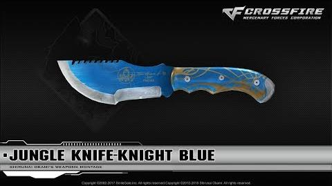 CrossFire China Jungle Knife-Knight Blue