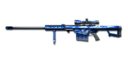 BARRETT-M82A1 BLUE SILVER DRAGON