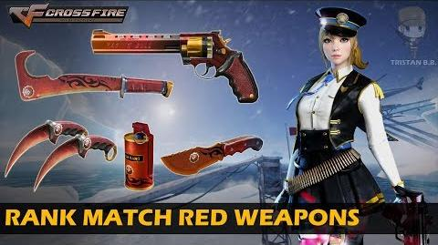 CrossFire China Rank Match Red Weapons (Showcase)