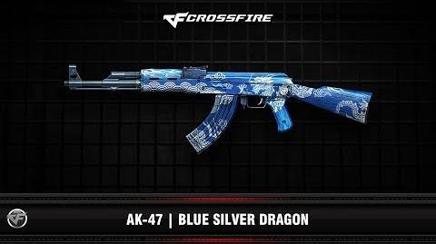 CF AK-47 Blue Silver Dragon