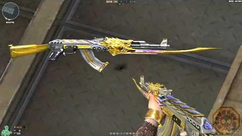 Cross Fire China AK-47 Beast Imperial Gold !
