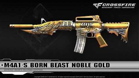 CrossFire Vietnam M4A1-S Born Beast Noble Gold