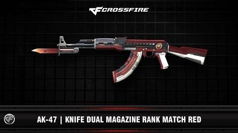 CF AK-47 Knife Dual Magazine Rank Match Red
