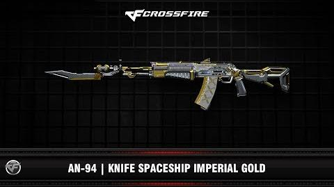 CF AN-94 Knife Spaceship Imperial Gold