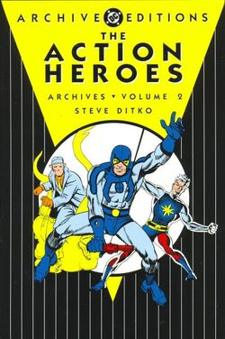 Cover for the Action Heroes Archives Vol 1 2 Trade Paperback