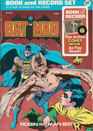 Batman - Robin Meets Man-Bat Book and Record Set