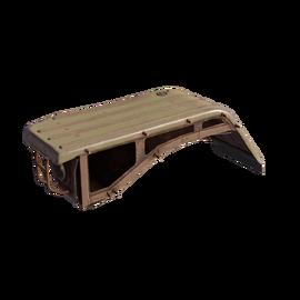 Крыло военного грузовика правое