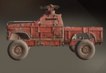 Armour Plates paint dye on vehicle