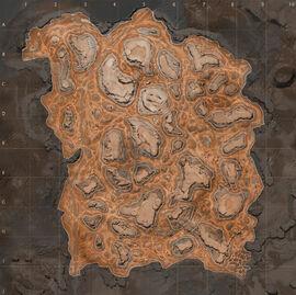 Кровавые скалы Карта