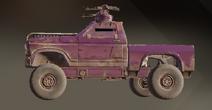 Eggplant paint dye on vehicle