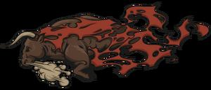 Бешеный бык большая