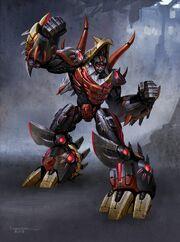 Transformers Fall of Cybertron - Concept Art Slug robot mode Final