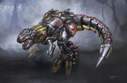 Transformers fall of cybetron dinobot grimlock robot mode 1 concept art 2