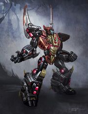 Swoop dinobot transformes fal of cybertron concept art