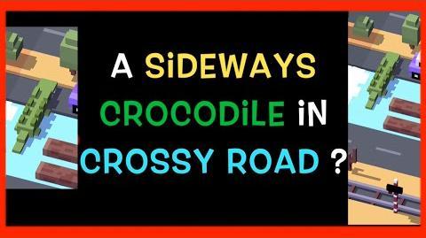 ☆ Sideways Crocodile ☆ Crossy Road Glitch. Yes SIDEWAYS! Funny app bug I've only ever seen once