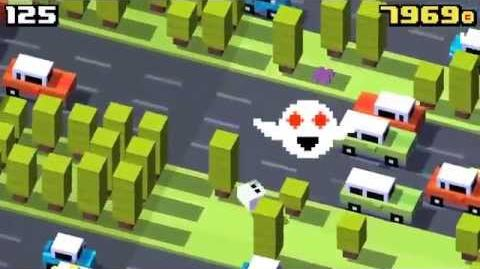 Crossy Road Scoring 330 while being annoyed by Forget-Me-Not's Ghost. Pure Unedited Game Play