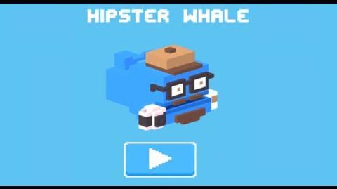 Crossy Road iOS App - Unlock the Secret Hidden -50 Hipster Whale!