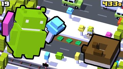 The ANDROID ROBOT in CROSSY ROAD Exclusive Candy Wonderland NEW Character Gameplay